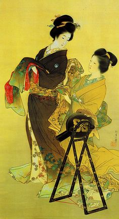 Uemura Shoen (1875-1949 ) the colors in this are amazing