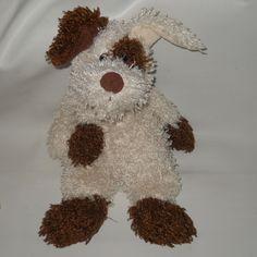 Animal Adventure Harry And David Puppy Dog Cream Brown Plush Stuffed 2005 Floppy #AnimalAdventure