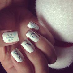 Winter nails. Snowflake . Let it snow. Square nails. Xmas nails