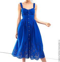 Купить Платье сарафан - синий, серый, платье, платье летнее, Платье нарядное, короткое платье