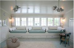 beadboard ceiling / shed dormer nook