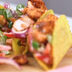 Our quick and easy Mexican sharing feast takes barely any effort. Just roast the cod with spicy chipotle and lime, then load into corn shells with crunchy slaw Spicy Seafood Recipes, Fish Recipes, Mexican Food Recipes, Vegetarian Recipes, Healthy Recipes, Recipies, Bbc Good Food Recipes, Cooking Recipes, Catering Food