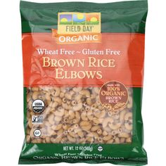 Field Day Pasta - Organic - Brown Rice - Elbows - 12 oz - case of 12
