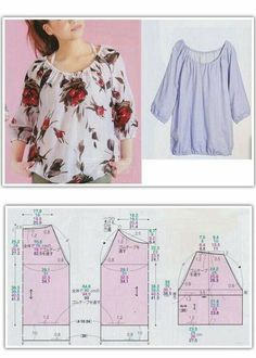Free Sewing Sewing Hacks Sewing Projects Sewing Crafts Blouse Patterns Clothing Patterns T Dress Sewing Blouses Easy Sewing Patterns Dress Sewing Patterns, Sewing Patterns Free, Free Sewing, Clothing Patterns, Pattern Sewing, Pattern Drafting, Knitting Patterns, Blouse Pattern Free, Blouse Patterns