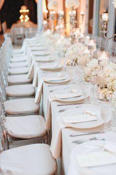 Champagne color wedding reception idea; photo: Mango Studios