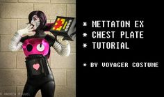 Mettaton EX Cosplay Tutorial - Chest plate! Mettaton Cosplay, Undertale Cosplay, Cosplay Ideas, Cosplay Costumes, Costume Ideas, Costume Tutorial, Cosplay Tutorial, Halloween Treats, Halloween Party