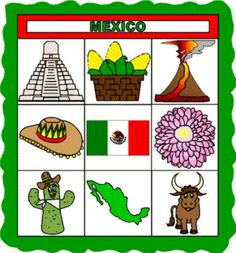 DLTK's Crafts for Kids  All About Mexico Paper Quilt Craft    This is a great cut and paste paper craft project for learning about Mexico.  It includes symbolic icons, the flag, a map of Mexico, information, and templates.