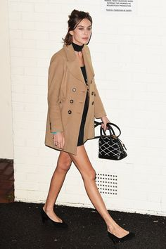 Alexa Chung leaves Fountain Studio following the X Factor live show on November 14, 2015 in London, England.