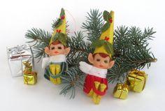 Napco+Pixie+Elf+Ornaments+Knee+Huggers+Set+by+MagellansBellyStudio,+$23.50