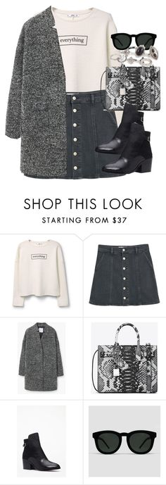 """Untitled #3428"" by peachv ❤ liked on Polyvore featuring MANGO, Yves Saint Laurent, Forever 21, Quay and New Look"