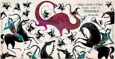 Jill and Dragon - Lesley Barnes Illustration