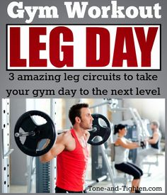 Sculpt the best legs of your life the next time you are in the gym - 3 circuits to take your legs to the next level from Tone-and-Tighten.com #workout #legs #exercise