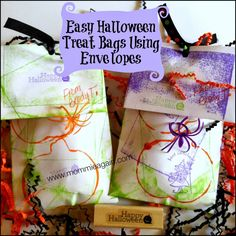 Easy Halloween Treat Bag for you Preschooler's Friends Treat bags showing Photo Credit: Kim Croisant