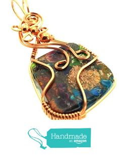 Sea Sediment Jasper Gemstone Copper Wire Wrapped Pendant from Angelleesa Designs https://www.amazon.co.uk/dp/B01KMGIVZM/ref=hnd_sw_r_pi_dp_BiM7xbGMG01E9 #handmadeatamazon