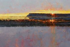 Pete Jordan Deer Lagoon Sunset oil on canvas 18x24