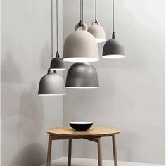 Buy Bell Pendant Lamp from Normann Copenhagen. **Canopy color matches the color of the pendant.** The expression of the Bell pendant lamp is robust, th. Interior Lighting, Home Lighting, Lighting Design, Pendant Lighting, Pendant Lamps, Lighting Ideas, Office Lighting, Wire Pendant, Bedroom Lighting
