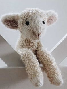 Patterns love this lamb free knitting pattern by Claire Garland of Dot Pebbles. Click through for details on how to knit a lamb with expert tips from Claire herself as well as other fantastic free knitting patterns you'll love to make Love Knitting Patterns, Outlander Knitting Patterns, Knitting Designs, Free Knitting, Knitting Projects, Baby Knitting, Crochet Patterns, Knitted Toys Patterns, Doll Patterns Free