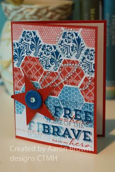 Booth 32 ctmh home of the brave stamp set
