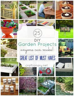 DIY garden projects #garden #DIY