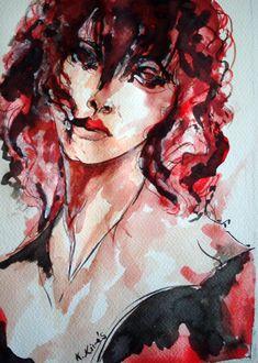 Akvarell, portré. Painting, Art, Art Background, Painting Art, Kunst, Paintings, Gcse Art