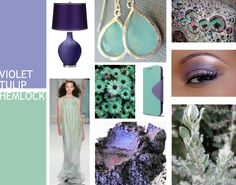 Pantone Spring 2014 Color Forecast - Violet Tulip paired with Hemlock by www.despacedesigns.com