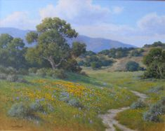 """California Oaks,"" David Chapple, oil on canvas, 24 x 30"", De Ru's Gallery."