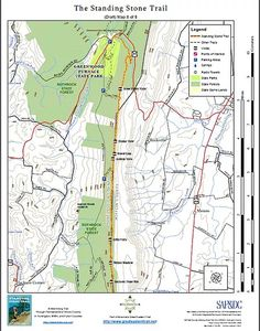 Standing Stone Trail Jacks Narrows Map