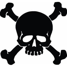Make your car unique with our Skull And Crossbones decals. This skull and crossbones sticker is a single color vinyl cut out that is very easy to apply and will last up to 5 years in both hot and cold climates. Car Decals, Vinyl Wall Decals, Wall Sticker, Plotter Cutter, Skull Pictures, Color Pictures, Pumpkin Stencil, Pirate Skull, Jolly Roger
