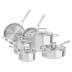 KitchenAid 12-pc Tri-ply Stainless Steel Cookware Set