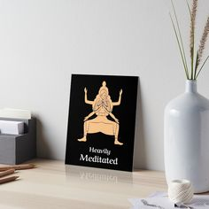 'Om Sweet Om Funny Mindfulness Yoga Fitness Pose' Art Board Print by Yoga Gifts, Graphic Design Art, Art Boards, Yoga Fitness, Gifts For Women, Meditation, Finding Yourself, Mindfulness, Poses