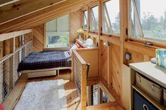 6 Maine Tiny Homes Tiny Homes, Criehaven, Maine Modern Tiny House, Tiny House Cabin, Tiny House Living, Cabin Homes, Tiny Homes, Cabin Loft, Cabin Design, Tiny House Design, Casas Containers