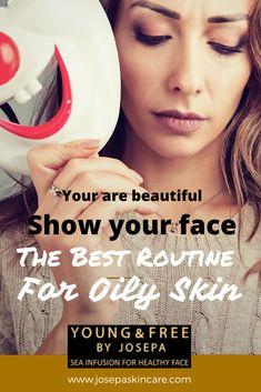 Josepa Skin Care oily skin care routine and treatment Soap For Oily Skin, Mask For Oily Skin, Moisturizer For Oily Skin, Oily Skin Care, Beauty Routine Tips, Beauty Tips For Skin, Skincare Routine, Moisturizer For Combination Skin, Oily Skin Remedy
