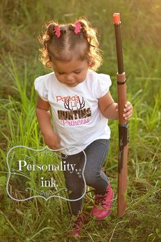 Lil Hunting Princess Shirt - Papa - Daddy - Grandpa - Mommy Hunting buddy on Etsy, $22.50