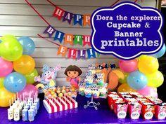 The Ultimate Dora The Explorer Party Setup + FREE PRINTABLES & Video | Cakecrusadersblog.com