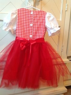 Handmade Little Red Riding Hood dress by Sweet Janes Clothing