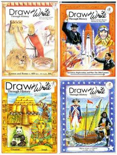Homeschool Curriculum ~ Draw and Write Through History Series: Cursive Copywork and Historical Curriculum Combined!