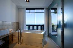 salle de bain - vue mer - bassin d'Arcachon-  baignoire design -