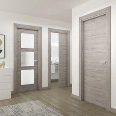 Benefits of Using Interior Wood Doors Grey Interior Doors, Interior Door Styles, Door Design Interior, Interior Door Colors, Wood Entry Doors, Wooden Front Doors, Oak Doors, Internal Doors Modern, Bedroom Door Design