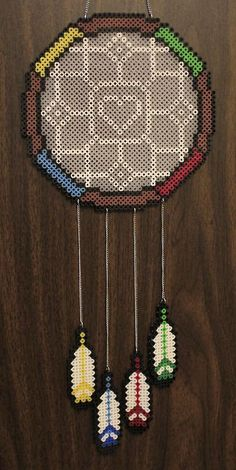 Dreamcatcher's on Pinterest | Perler Beads, Dream Catchers and Fuse Beads