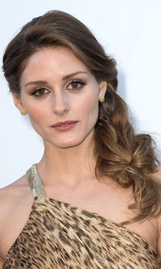 Olivia Palermo with side plait