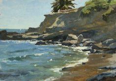 Frank Serrano - Eroding Cliffs, Laguna, 7x10