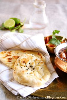 Shab's Cuisine: Naan (Indian Leavened Flat-bread)