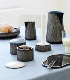 A handmade and hand-decorated line of ceramic tableware called Just by Rikki Tikki