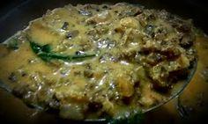manjuz kitchen: Raw banana peel chinese potato and green gram curr...
