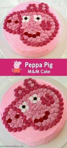 Peppa Pig M amp;M Cake Peppa Pig M amp;M Cake The post Peppa Pig M amp;M Cake appeared first on Kindergeburtstag ideen. Pig Cupcakes, Cupcake Cakes, Tortas Peppa Pig, Peppa Pig Cakes, Peppa Pig Birthday Cake, 4th Birthday, Birthday Ideas, Simple Birthday Cakes, Buy Cake