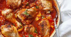 Gryterett med kylling og chorizo