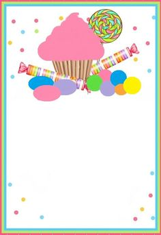 . Candy Theme Birthday Party, Candy Land Theme, Candy Party, Birthday Balloons, Birthday Parties, Birthday Cards, Bday Invitation Card, Birthday Invitations, Eid Cards