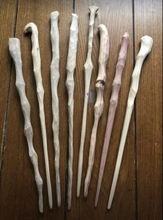 Whittling Projects, Whittling Wood, Wooden Walking Canes, Wooden Walking Sticks, Wicca, Magick, Wood Carving Art, Wood Art, Wooden Wand