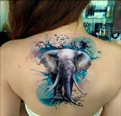 elephant tattoo designs (89)