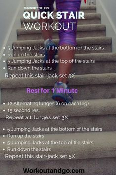 Boost Your Metabolism in 20 Minutes or Less for Busy Moms Quick at Home Stair Workout that is sure to boost your metabolism and burn calories. Quick Weight Loss Tips, Weight Loss Help, Weight Loss Program, Reduce Weight, How To Lose Weight Fast, Cardio Workout At Home, Workout At Work, At Home Workouts, Workout Challenge